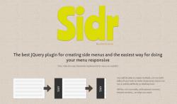 Sidr – Plugin de jQuery para crear menús laterales